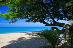 View on tropical white sand beach, Ko Chang, Thailand stock image