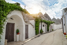 View of Trulli houses in Alberobello Stock Photography