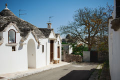 View of Trulli houses in Alberobello, Italy Stock Image