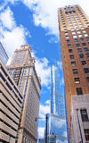 View of Trump International Hotel and Tower. The Trump International Hotel and Tower, also known as Trump Tower Chicago and locally as the Trump Tower, is a Royalty Free Stock Photo
