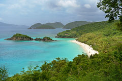 View of Trunk Bay in St. John. View of Trunk Bay Beach in U.S. Virgin Islands Stock Images