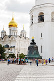 View of Tsar bell and Bell Tower in Moscow Kremlin Stock Photo