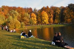 View of Tsaritsyno park in Moscow. royalty free stock photos