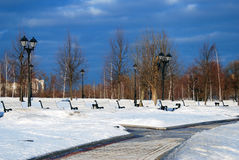 View of Tsaritsyno park in Moscow Stock Images