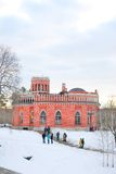 View of Tsaritsyno park in Moscow Royalty Free Stock Image