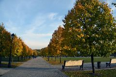 View of Tsaritsyno park in Moscow. stock photo