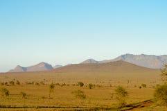 View of the Tsavo East savannah Stock Photo