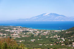 View of Tsilivi on Zakynthos Royalty Free Stock Photo