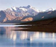 View of Tso Moriri Lake with Great Himalayan Range Royalty Free Stock Images