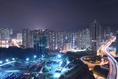 a view of Tsuen Wan highway hk royalty free stock images