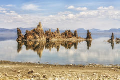 View of tufa formations at Mono Lake, California, USA Stock Image