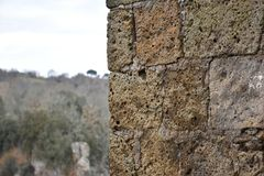 View of tuff wall and background Stock Photo
