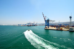 Haifa sea port Stock Image