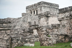 View of Tulum. Facade of ancient building at Tulum, Mexico Stock Image