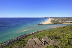 View from Tumgun Lookout overlooking the southern Gold Coast, Australia. View from Tumgun Lookout overlooking Tallebudgera Creek, Palm Beach and the southern stock photography