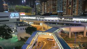 The view of Tung Chung Bay hk stock video footage