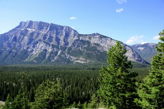 View from Tunnel mountain,Banff,Alberta,Canada. Royalty Free Stock Photography