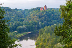 View on Turaida castle and Gauja valley in Sigulda, Latvia. stock photography