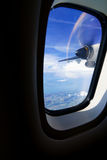 View from turbo-prop aircraft Royalty Free Stock Photos