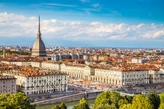 View of Turin centre with Mole Antonelliana-Italy Royalty Free Stock Photos
