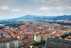 View of Turin. From Cinema Museum royalty free stock photography