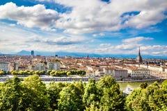 View of Turin city centre-Turin,Italy Royalty Free Stock Photos