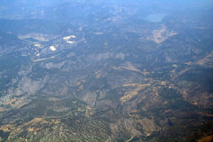 Aerial view  from the plane Royalty Free Stock Images
