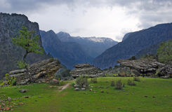View of the Turkish mountains Royalty Free Stock Photos