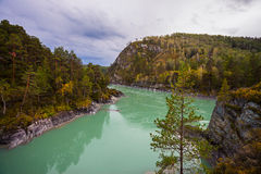 View of the turquoise river stock images