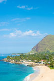 View of Turtle Beach on the north west coast of Oahu Stock Photography