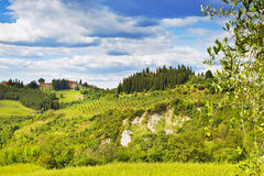 View of the Tuscan countryside Stock Image