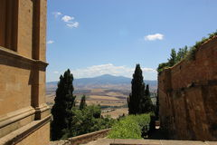 A view of the Tuscany Hills. A view of the Tuscan hills taken from the town of Sienna Stock Photo