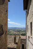 A view of the Tuscany Hills. A view of the Tuscan hills taken from the town of Sienna Royalty Free Stock Photography
