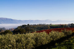 View Of Tuscany Hills Stock Images