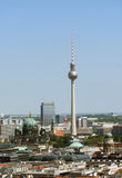View on a TV tower in Berlin Royalty Free Stock Photography