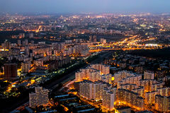 View from TV tower in Moscow Royalty Free Stock Photography