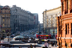 View on Tverskaya street Stock Photo