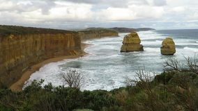 View of the Twelve Apostles West. View of the Twelve Apostles on the Great Ocean Road stock footage