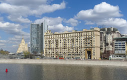 View of the twelve-storey house of Stalinist architecture, Moscow, cityscape Royalty Free Stock Photography