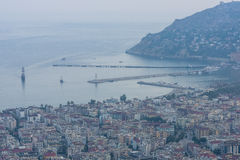 View of twilight Alanya Stock Images