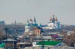 View on two churches. Tyumen. Russia Stock Image