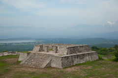 View of the Two Glifos Plaza in Xochicalco Stock Photography