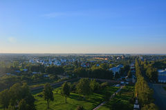 View of two monasteries from Belltower of Eufrosinia Suzdalskaya in Suzdal, Russia Stock Photo