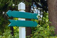 View of two wooden directional signs Stock Images