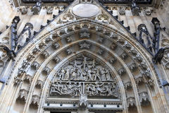 View of tympanum St. Vitus Cathedral Royalty Free Stock Photo