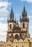 View of the Tyn Church in Prague Stock Images