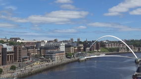 10s Tyne view. A view on the Tyne river and a bridge stock video footage