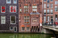 View of typical Amsterdam building. royalty free stock photography