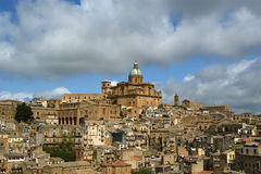 View of a typical ancient city, Sicilia Stock Photo