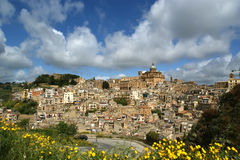 View of a typical ancient city, Sicilia Royalty Free Stock Images